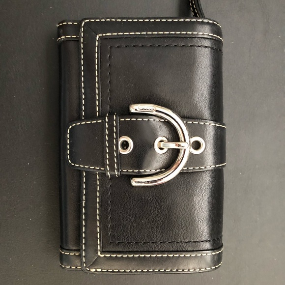 Coach Handbags - Coach black leather wallet with buckle